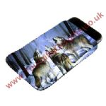 Wolves Howling Phone Pouch